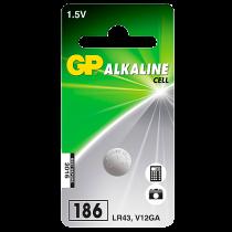 Knappcellsbatteri GP Alkaline LR43/186