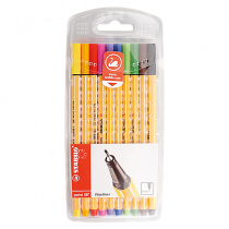 Fiberpenna Fineliner Stabilo point 88 10-set