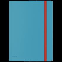 3-klaffsmapp Leitz Cosy med ficka blå