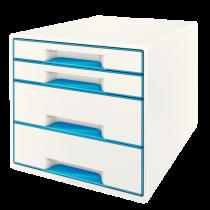 Förvaringsbox Leitz Wow 4 lådor blå