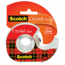 Tejp Scotch Crystal med hållare