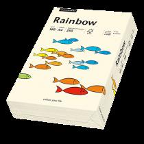 Färgat papper Rainbow A4 160 g creme 250/fp