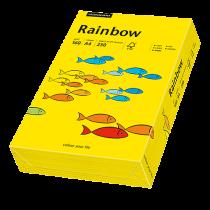 Färgat papper Rainbow A4 160 g intensivgul 250/fp