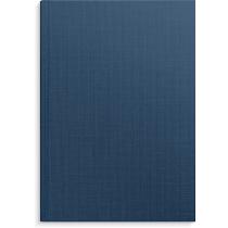 Anteckningsbok Burde blå linnetextil linjerad A4