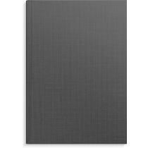 Anteckningsbok Burde mörkgrå linnetextil linjerad A4