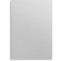Anteckningsbok Burde grå linnetextil linjerad A4