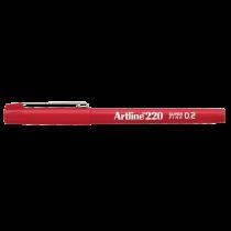 Fiberpenna Fineliner Artline 200 röd