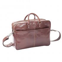 Portfölj Baoobaoo Briefcase Soft 2 Zip 15 tum brandy