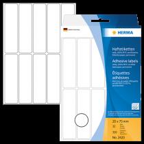 Märketiketter Herma 20x75 mm 320/fp