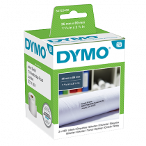 Adressetikett Dymo LabelWriter 89x36 mm vit 2/fp