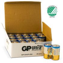 Batterier GP Ultra Alkaline LR20 Size D 20ST/FP